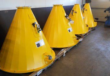 Cementwegers geproduceerd door machinefabriek MHZ