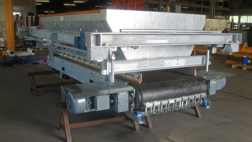 Wegenwagenband voor de betonindustrie, geproduceerd door machinefabriek MHZ